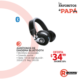 RADIO shack audifonos de diadema bluetooth