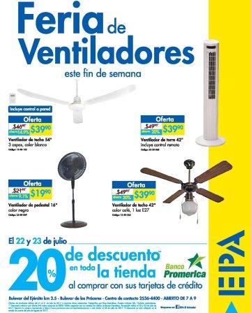Feria de ventiladores en ferreteria epa el salvador - 22jul17