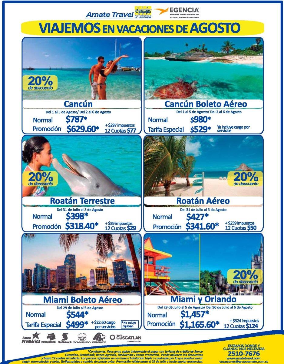 Opciones para ir planificando tus Vacaciones de Agosto 2017
