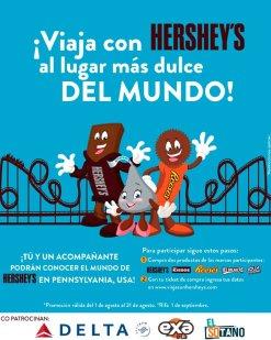 HERSHEYS promocion viaja por el mundo
