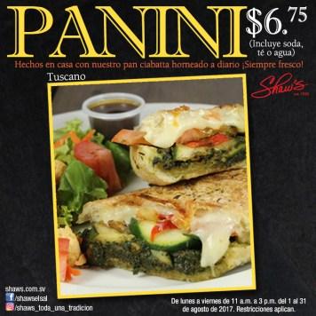 Oferta en SHAW deliciosos paninis