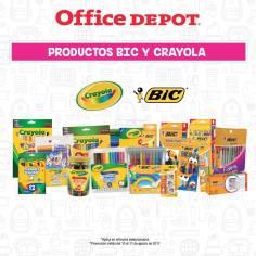 Productos BIC y Crayones Crayola en promocion