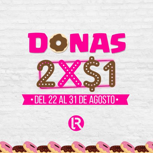 Promocion DONAS 2x1 dollar - panaderia EL ROSARIO
