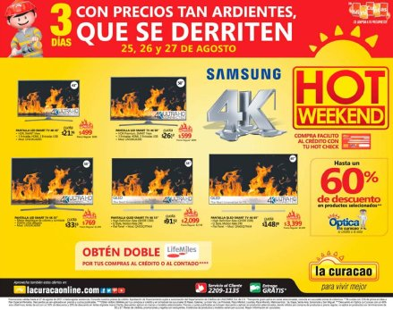 hot weekend 2017 Tecnologia 4k video pantalla ultra HD
