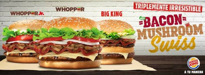 BACON mushroom swiss burger king sv
