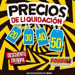 BOMBA Precios y descuentos en prodcutos de liquidacion