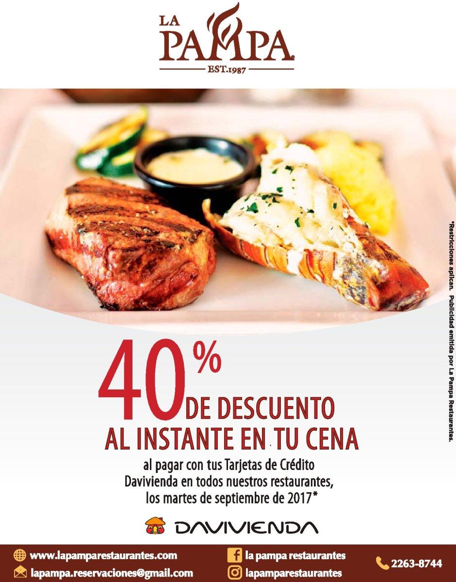Promociones en restaurantes LA PAMPA (Septiembre 2017)