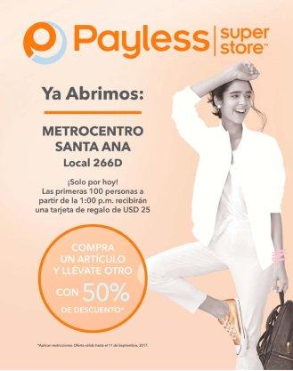 Nueva sucursal PAYLESS en metrocentro santa ana