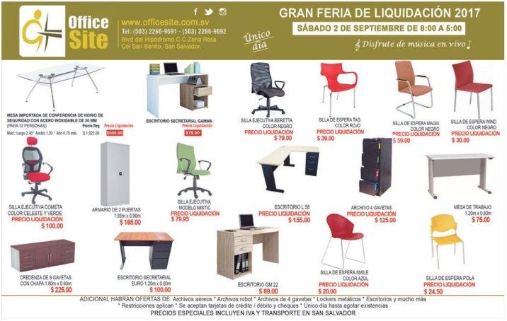 OFFICE SITE liquidacion de muebles de oficina