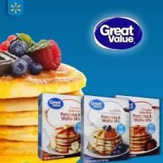 pancake and waffle mix pastry