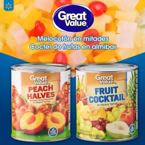 peach and fruit cocktail great value walmart