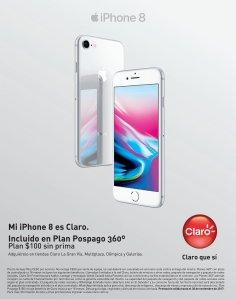 CLARO plan pospago 360 para tu nuevo iPhone 8