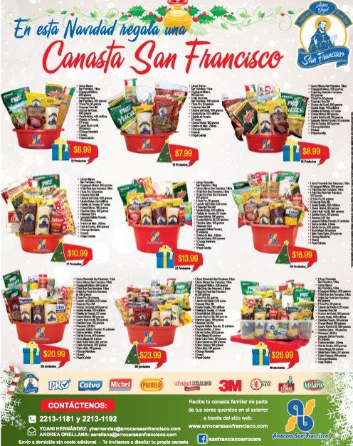 Canastas navideñas 2017 de arrocera SAN FRANCISCO