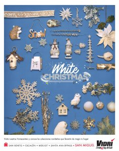 VIDRI el salvador Merry Christmas collection WHITE SNOW