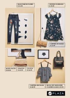 Blusas campesitas y jeans de moda