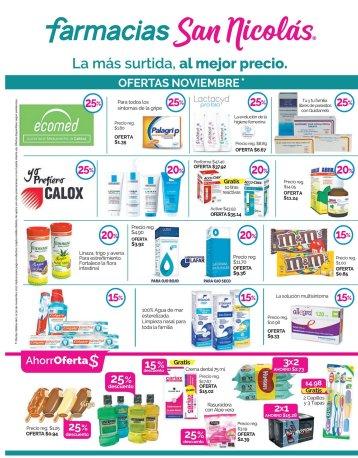 Catalogo de ofertas en farmacias san nicolas - noviembre 2017
