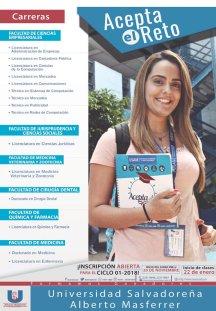 Incripcion 2018 en la Universidad Salvadoreña Alberto Masferrer USAM