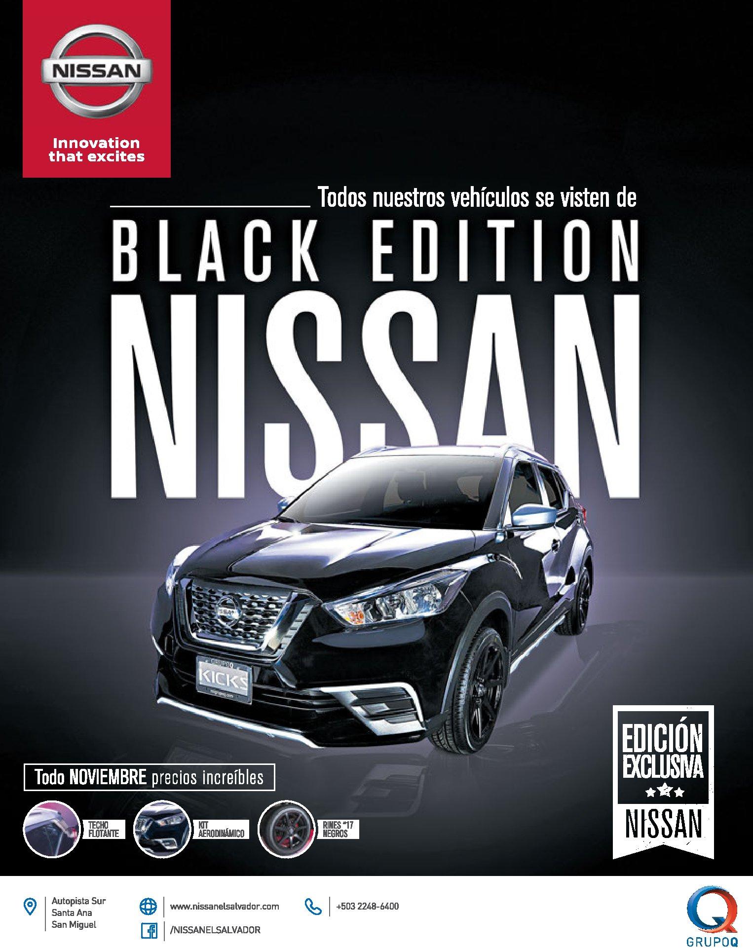 NISSAN Black friday edition 2017 modelo exclusivo KICKS