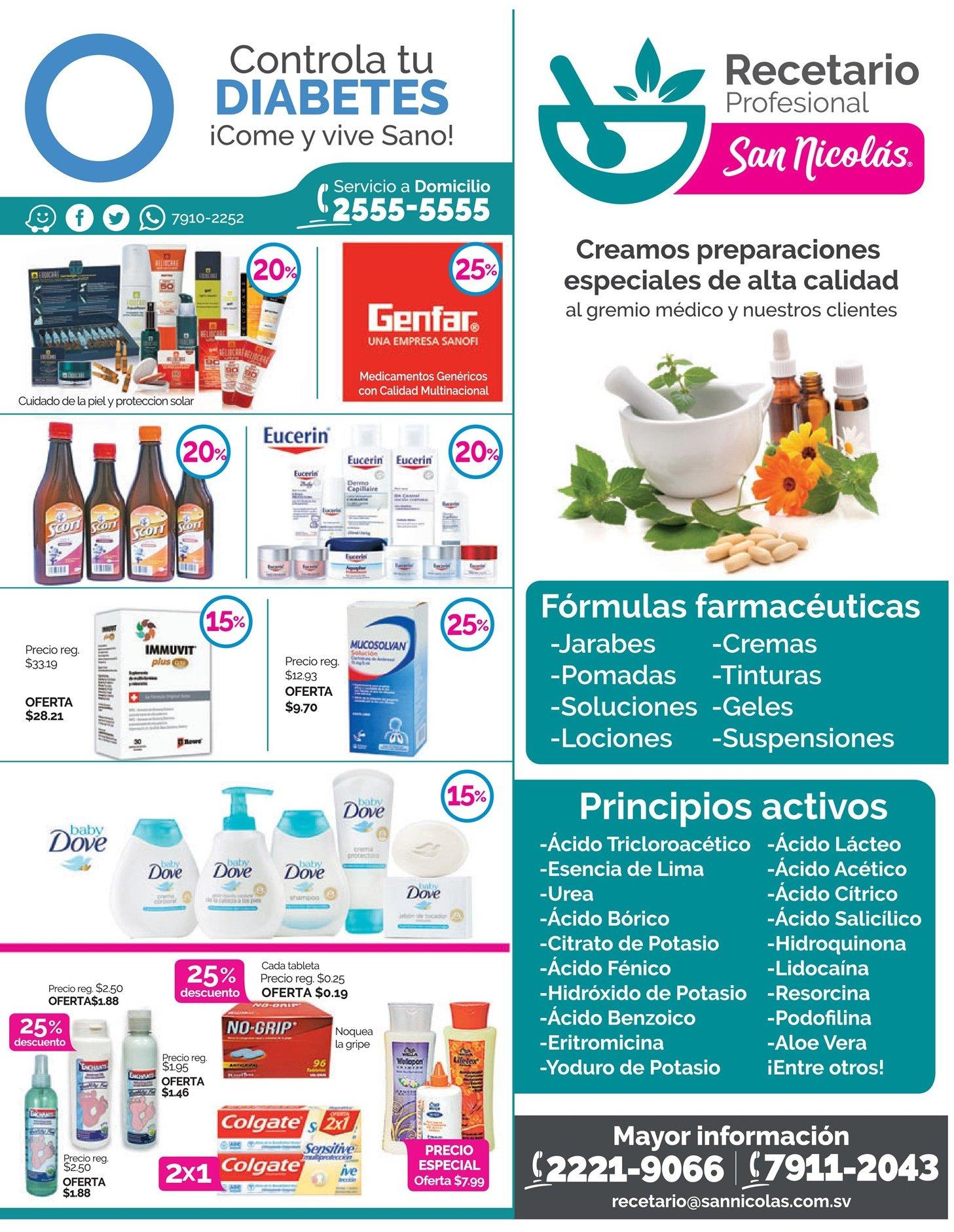 Recetario profesional y formulas farmaceuticas san nicolas