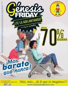 Variedad Genesis Friday viernes negro descuentos 2017