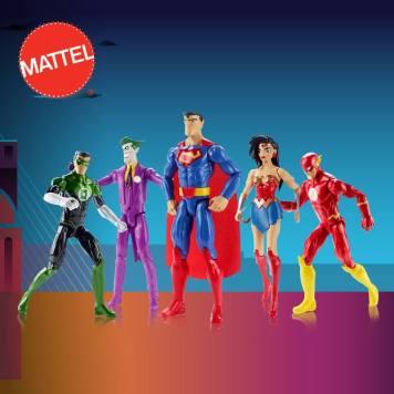coleccion de super heroes power by MATTeL toys