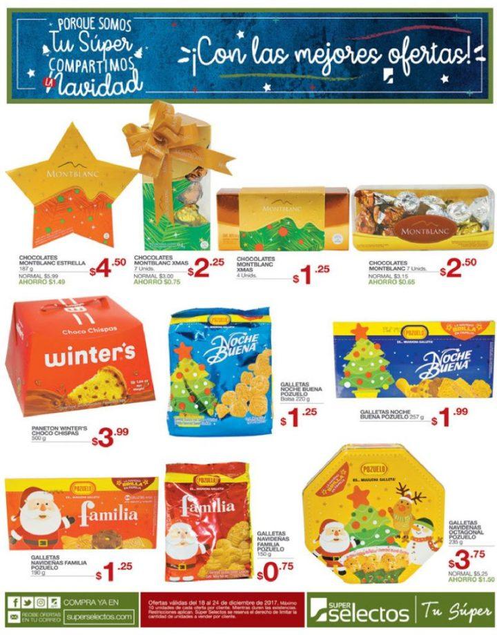 Galletas y postres de navidad 2017 super selectos ofertas