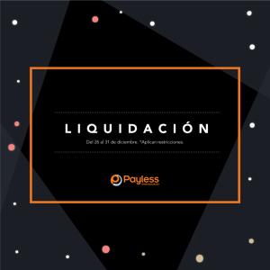 Liquidacion de fin de ano 2017 en PAYLESS shoesource