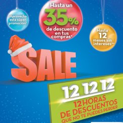 SALE 12 de Diciembre 12 horas de decuentos en Almacenes PRADO