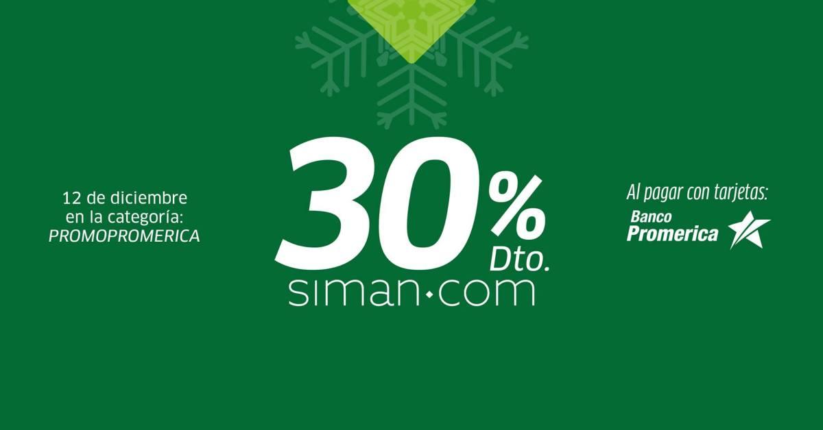 💳 30% con tus tarjetas Banco Promerica – Exclusivamente en siman.com 🎁🎄