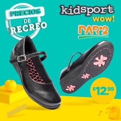 A prueba de todo recreo zapatos negro para tu uniforme diario