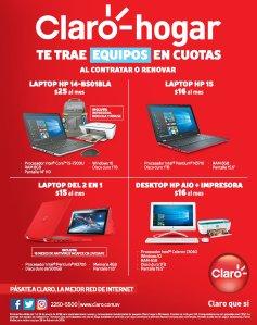 PRomociones CLARO HOGAR con computadoras para regresar a clases 2018
