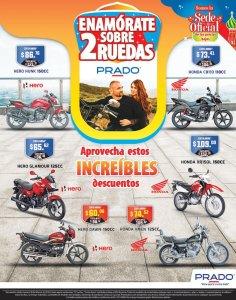 Enamorate en 2 ruedas con las MOTOS de almacenes PRADO sv