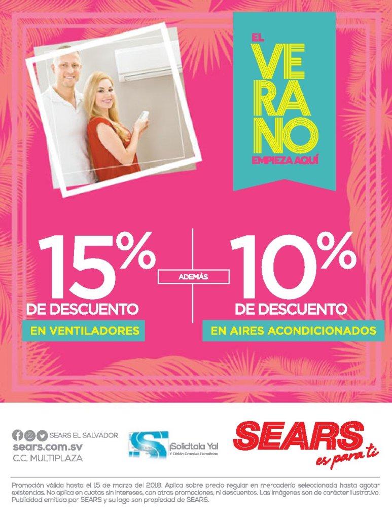 El verano 2018 inicia mejor con SEARS ofertas