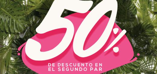 Promocion ADOC de verano 2018 segundo par con 50 off