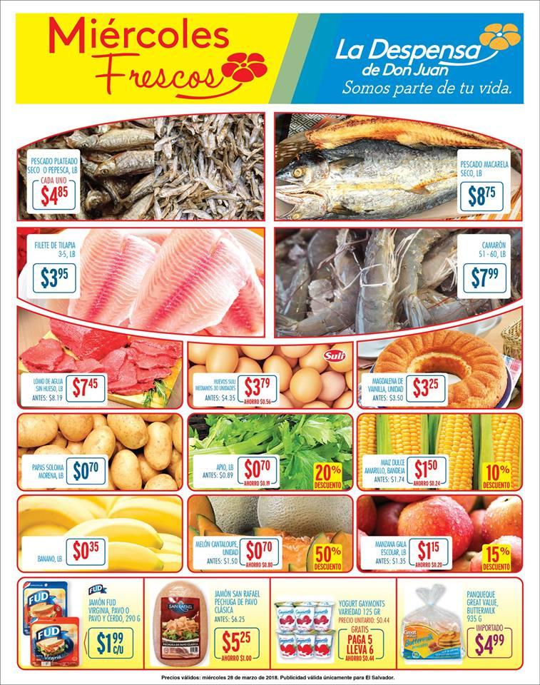 TODOS los productos del mar en ofertas frescas de la despensa - 28mar18