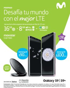 MOVISTAR el salvador plan samsung galaxy S9 and plus