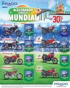 Acelera el camino al mundial rusia 2018 con motos HONDA