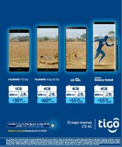 CUanto cuestan los planes de celulares tigo LTE
