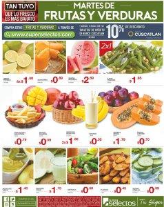 Las frutas y verduras de martes en super selectos descuentos