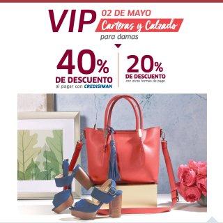 SIMAN Ventas VIP de carteras y calzado ahora 02 mayo 2018
