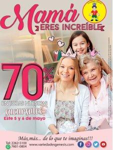 VARIEDADES GENESIS Descuento 70 off para mamas increibles