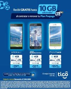 promo TIGO Recibi hasta 10GB de internet LTE adicional