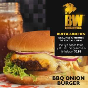 Buffalo Wings - BBQ ONION BURGER - Lunch Rusia 2018