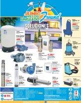 Promociones en equipos de bombeo y soluciones de agua