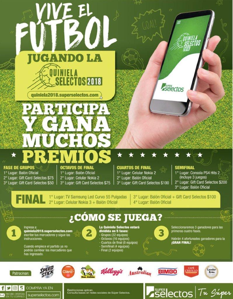 Quiniela Super Selectos - Vive el FUTBOL rusia 2018