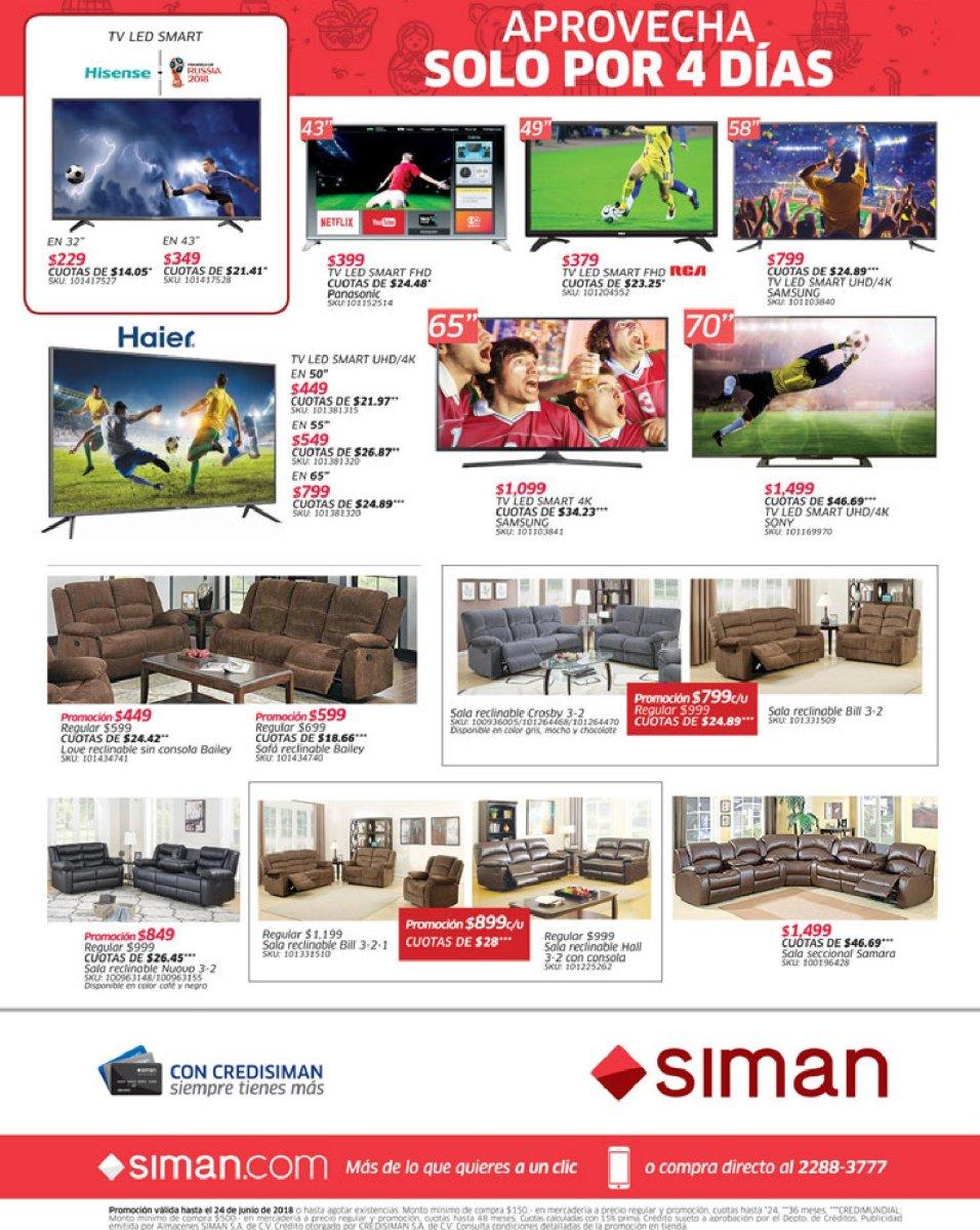 Promociones SIMAN para esta semana (21/jun/18)