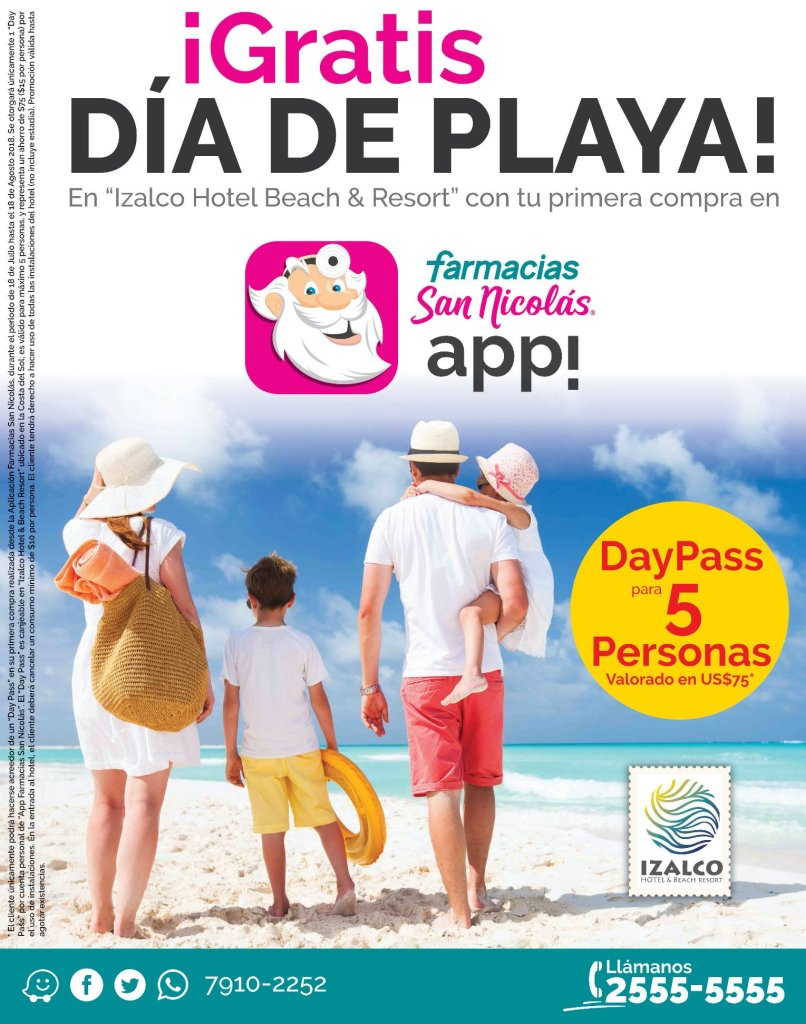 GRATIS un dia de playa gracias SAN NICOLAS app