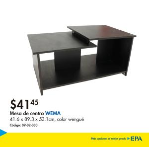 Muebles EPA - mesa de centro WEMA