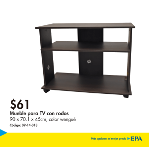 Muebles EPA - mesa para televisore con rodoss