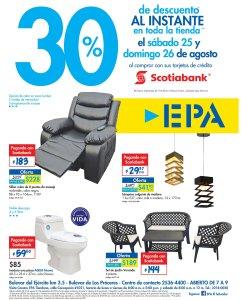 Gracias a Scotiabank 30 OFF en ferreteria EPA - 25ago18